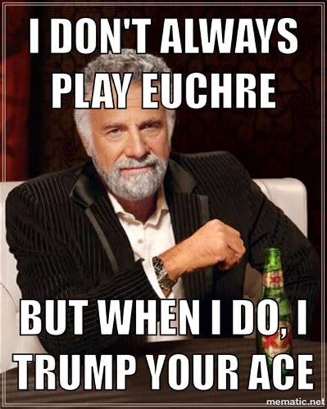 Funny Photo Meme - euchre me myself and i pinterest