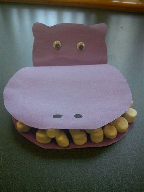 Hippo Paper Plate Craft - hippo craft october crafts activities