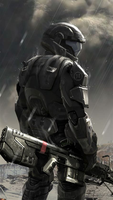Gamis Roorie 1 soldier concept halo 4 best htc one wallpapers