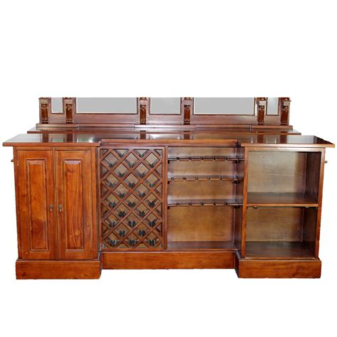 8 mahogany front bar furniture antique replica