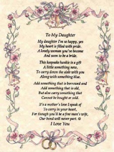 on this the day of my daughters wedding poems to a from on wedding day