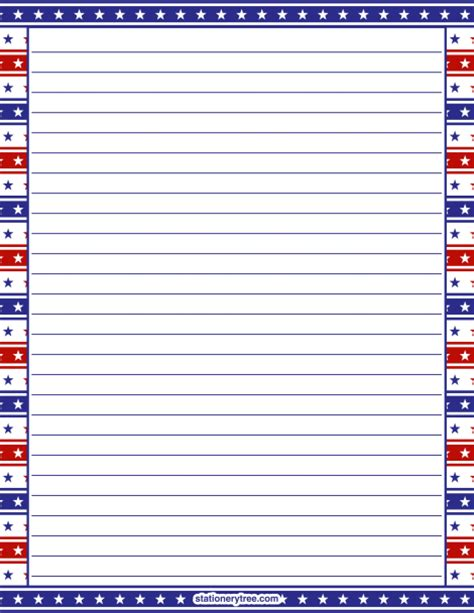 free printable stationery paper without lines printable patriotic stationery and writing paper multiple