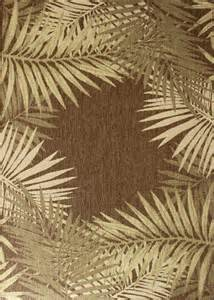 Palm Area Rugs Brown Tropical Outdoor Carpet 5x8 Palm Area Rug Actual 5 3 Quot X 7 6 Quot 79 95 Picclick