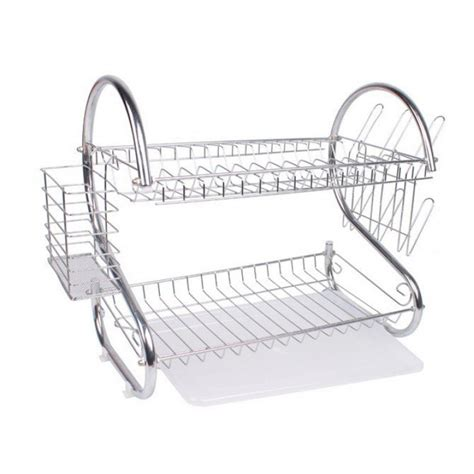 Rak Piring Stainless Steel two layer dish rack including delivery
