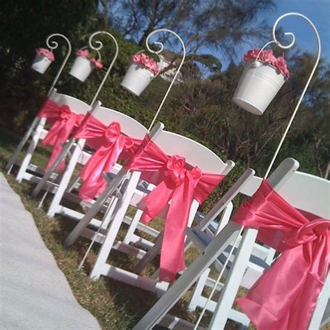 Wedding Aisle Buckets by Aisle Decorations Aisle Runners Wedding Decor Event Hire