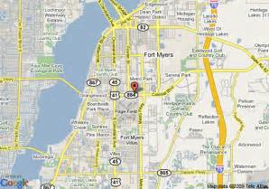 florida fort myers map map of 8 ft myers fl fort myers