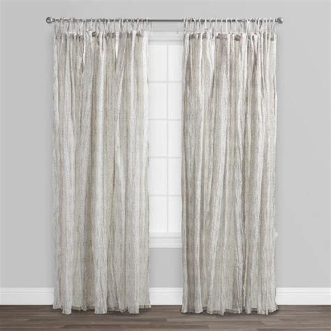 cotton voile curtains gray starburst crinkle cotton voile curtains set of 2