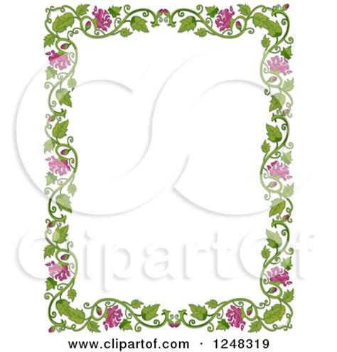 Border Clipart 1248319 Illustration By by Vine Frame Clip 78