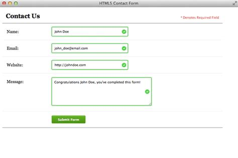html5 pattern validation exle bring your forms up to date with css3 and html5 validation