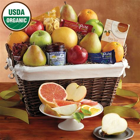 fruit gift baskets deluxe organic fruit gift basket