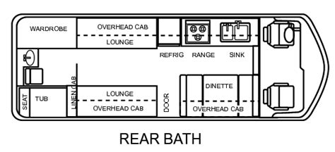 gmc motorhome floor plans 23 gmc motorhome floor plan