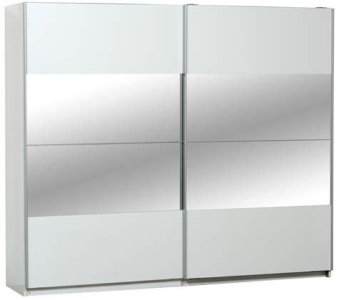 armoire blanche 2 portes armoire 2 portes coulissantes blanche et miroir 260 cm