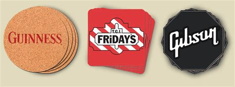 bar coasters cfl custom printed coasters custom logo coasters bar