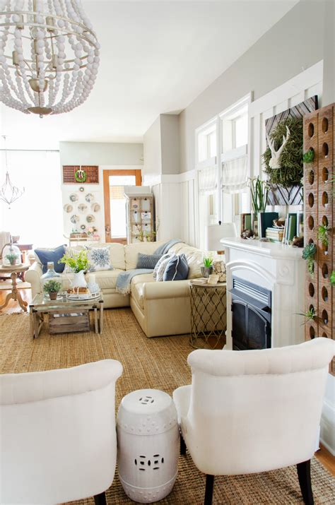 tips  refreshing  living room  spring
