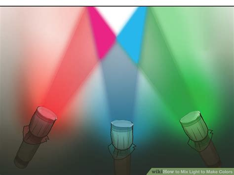 how to make the color 3 ways to mix light to make colors wikihow
