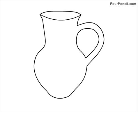 Water Jug Coloring Page   pin litre water jug colouring pages on pinterest