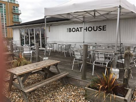 boat house cafe overlooking portmouth harbour spinnacker tower picture of the boat house cafe