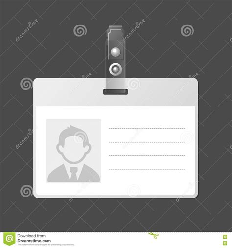 blank card stock templates blank identification card badge id template vector stock