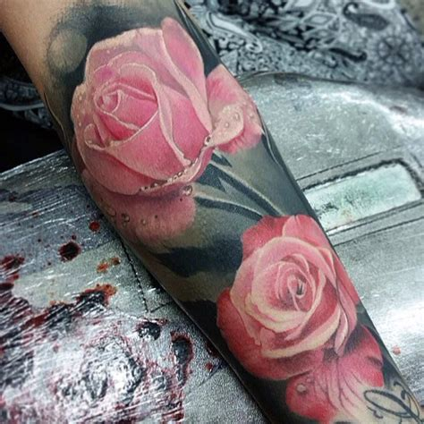 rose tattoo song list realistic pink tattoos pink