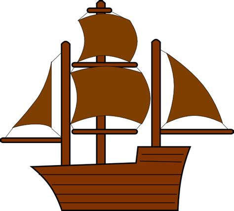 cartoon boat brown brown pirate ship clip art at clker vector clip art
