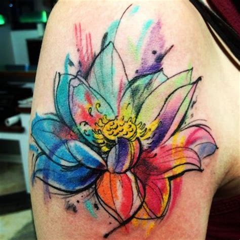 lotus watercolor tattoo 12 best watercolor designs for the week pretty