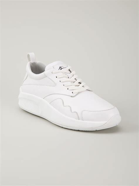 no lace sneakers article no lace up sneakers in white for lyst