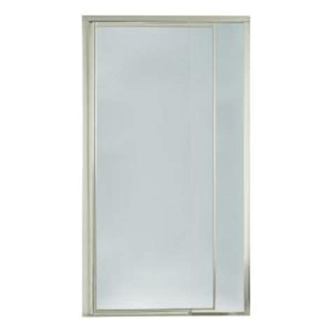 Sterling Vista Pivot Ii 36 In X 69 In Framed Pivot Pebbled Glass Shower Door