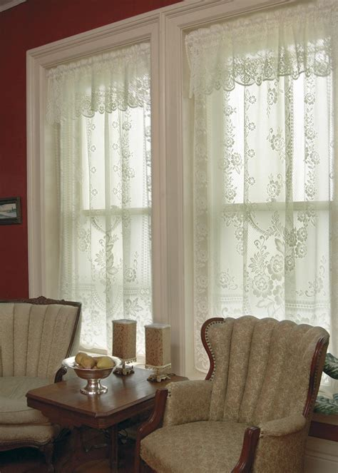 lace drapes victorian rose lace curtains by heritage lace bedbathhome com