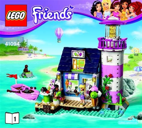 tutorial lego friends friends lego heartlake lighthouse instructions 41094