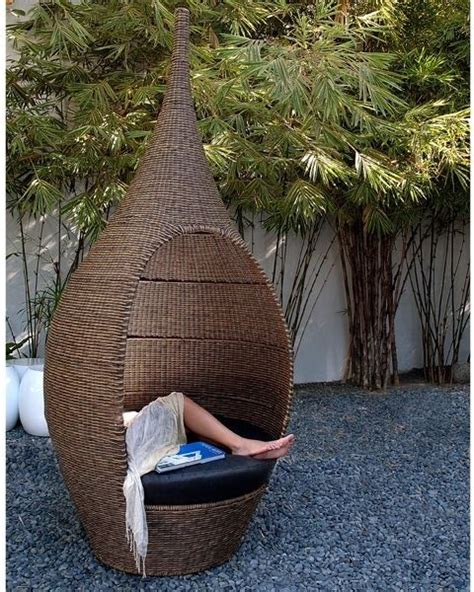 Outdoor Pod Chair by Genie Outdoor Wicker Pod Chair Outdoor Lounge Chairs