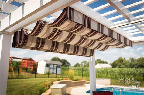 retractable pergola canopies classy poolside shade cover
