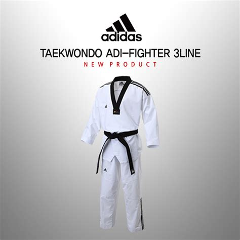 Dobok Adidas Fighter New Iii adidas taekwondo 3 stripe adi fighter climacool technology dan kyorugi dobok spennergy sports