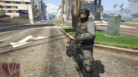download mod game swat gta 5 cops police swat army have miniguns mod gtainside com