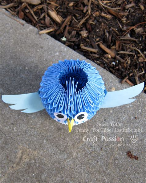 How To Make 3d Paper Birds - 3d bird origami with craft