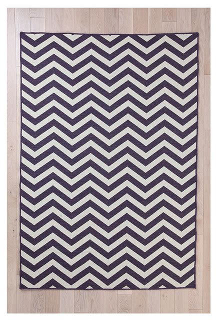 purple chevron rug wool flat weave chevron rug purple contemporary rugs by outfitters