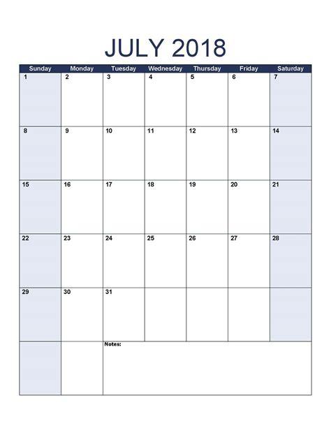 calendar template july 2018 july 2018 printable calendar 8 free blank templates