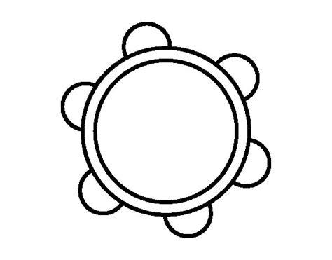 imagenes de instrumentos musicales faciles de dibujar dibujo de una pandereta para colorear dibujos net