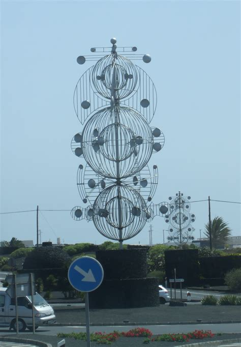 mobile sculpture mobile sculpture on roundabout in lanzarote nen gallery