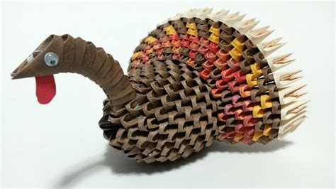 Thanksgiving Turkey Origami - 3d origami thanksgiving turkey by whimsicalfolds on etsy