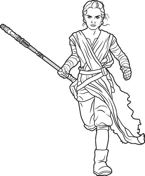 coloring pictures of rey from star wars polkadots on parade star wars the force awakens coloring