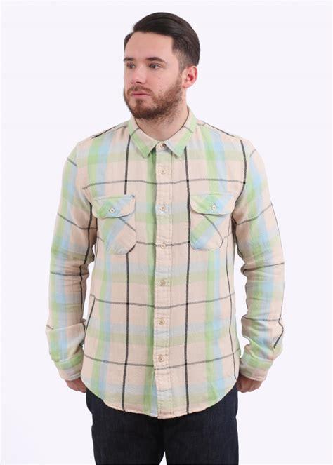 levi s vintage clothing shorthorn shirt check ecru check