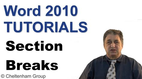 section break word 2010 word 2010 tutorial section breaks full training course