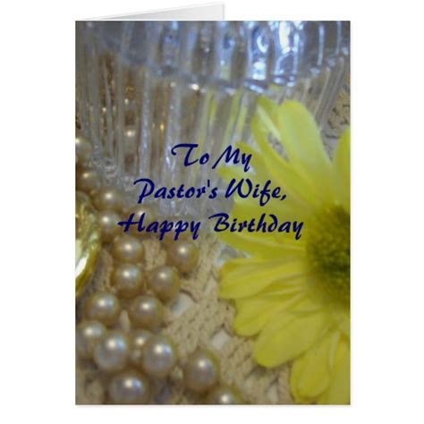 Happy Birthday Wishes For My Pastor Happy Birthday Pastor S Wife Daisy Card Zazzle