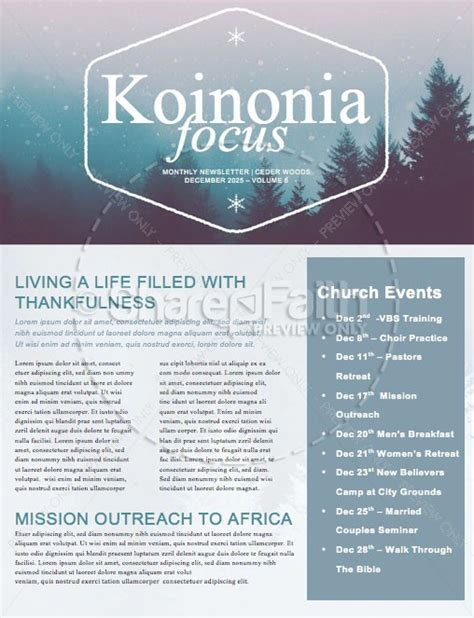 christian merry christmas church newsletter