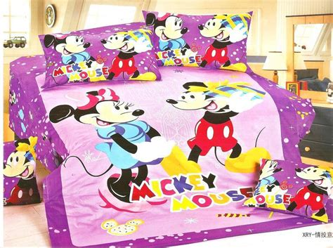 Purple Color Mickey Minnie Mouse Bedding Sets Purple Color Mickey Minnie Mouse Bedding Sets
