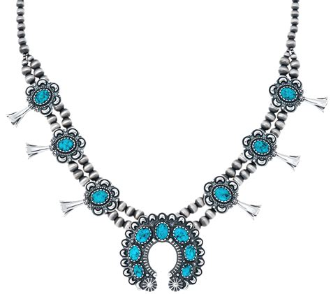 Kingman Spiderweb Turquoise Necklace By