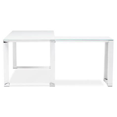 bureau d angle design blanc bureau d angle design master en verre tremp 233 blanc
