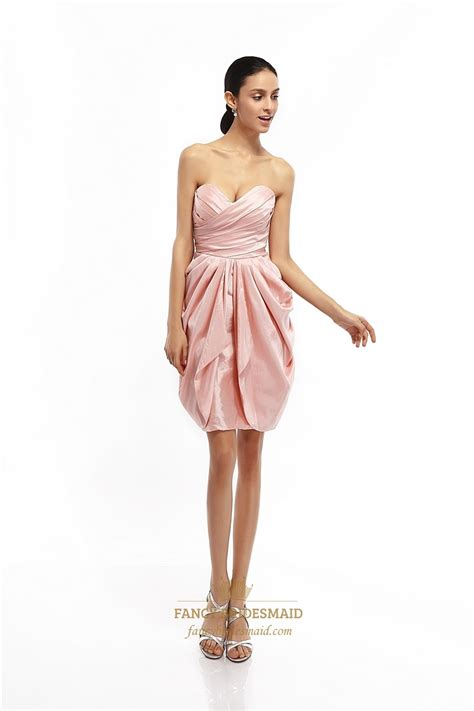 draped cocktail dress pink strapless draped taffeta cocktail dress with egg