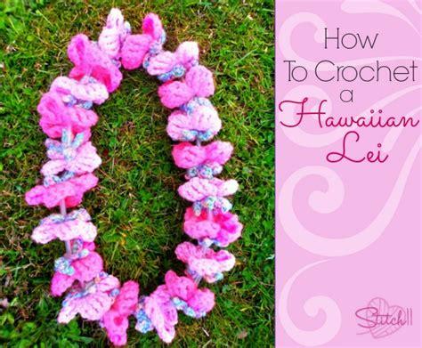 Free Crochet Pattern Hawaiian Lei   how to crochet a hawaiian lei