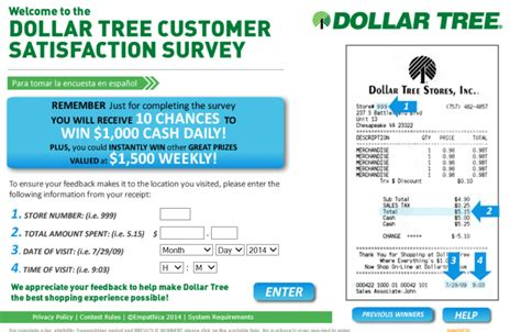 Dollartreefeedback Sweepstakes - give your feedback to dollartree through their online survey dealvortex